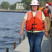 Donning hard hat and life vest Jerry led the way