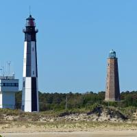 The lighthouse cruise provided a great opportunity to get photos of both of the Cape Henry lights at the same time.