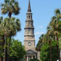 The St Philips Episcopal Church in Charleston served as the Rear Range light with the Fort Sumter Light to guide ships into Charleston Harbor.