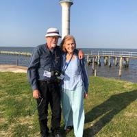 Steve and Nancy at Broadwater Beach Marina