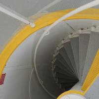 The spiral staircase in the Crooked River Lighthouse