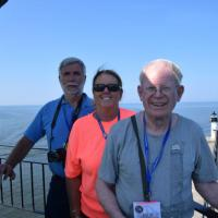Dick, Wanda & Kevin with a view of the St. Joe's outer light