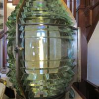 The original Fresnel lens at Old Michigan