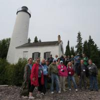 A half-mile walk to the lighthouse provided a backdrop for our first group photo.