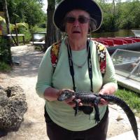 Amy holding Baby Alligator