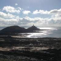 Early morning at the Mumbles Lighthouse.