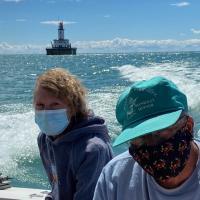 Leaving DeTour Reef Lighthouse