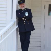 Mark Kuehn greeted us in full uniform