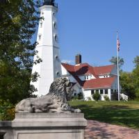 The lion guards the lighthouse