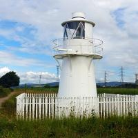 Our first lighthouse at East Usk located in the Newport Wetlands
