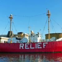 Our former lightship looks like it is in great shape.
