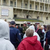 Ranger John Cantwell was an outstanding tour guide on Alcatraz Island.
