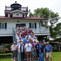 Another group photo, this one on the last day at the Roanoke River Lighthouse replica in Plymouth.  Later in the day we viewed the restored lighthouse in Edenton.