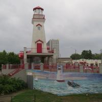 The Port Credit Lighthouse is a replica dedicated to the citizens of Port Credit and Mississauga as a reminder of their past and a guide to illuminate their future.  The light is always on!