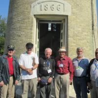 Our guys along with our docent Ken