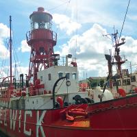 We were treated to a tour of the Helwick Lightship in Swansea.