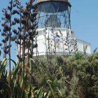 Manukua Head Lighthouse with Steve