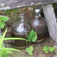 The two jugs of moonshine were probably left by the last keeper!