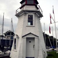Oakville Light was moved to the inner pier to protect it from Lake Ontario storms