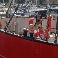 Marge & Wanda aboard the Helwick Lightship.