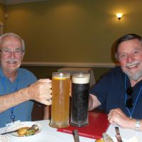 Our first full day ended in Elizabeth City.  Bill & Skip chose to have a small beer with dinner at Montero's!