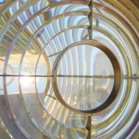 Lens at Great Fish Point Lighthouse