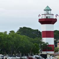The red and white Harbour Town lighthouse has become a widely recognized landmark and a symbol for all of Hilton Head Island