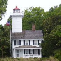 The Haig Point Lighthouse shown here was actually the rear range light which helped guide vessels into Calibogue Sound.