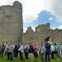 Sarah gave us a detailed tour and history of Kidwelly Castle.