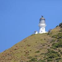 Close up of Cape Brett Lighthouse