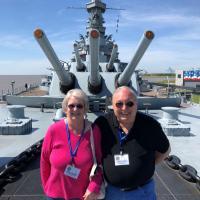 Steve and Leona on USS Alabama