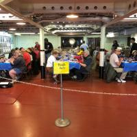 Lunch in the Ward Room on the USS Alabama