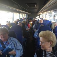 On the tour bus
