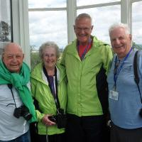Don, Betty, Stan and Glen, along with everyone else were invited inside the West Usk B&B by owner Frank Sheahan
