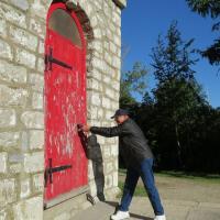Bill tries the door…with not luck