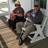 Amy & George relaxing at Bodie Island