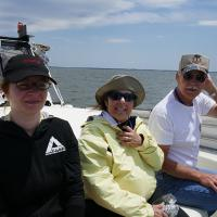 Docent, Kathryn and Jerry on Boat to Thomas Point Shoal