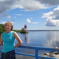 Diane and Alpena Harbor Light