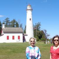 Kristina and Judith at Sturgeon Point Lighthouse