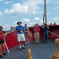 We were treated to a great tour of the LV112  by the docents and staff of the Lightship.