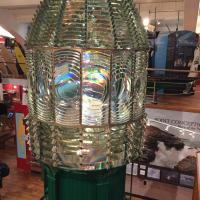 Point Conception first order fresnel lens at Santa Barbara Museum
