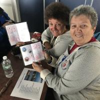 Cheryl and Debbie with Passports