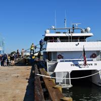 We enjoyed a great trip around Buzzards Bay and the Elizabeth Island on one of the Provincetown fast ferries.  Lots of room and very comfortable