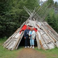 David and Susie checked out the teepee amenities.