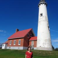 Judith at Tawas Point Lighthouse