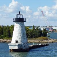 Heading out of New Bedford the first lighthouse we encountered was the Palmers Island light.