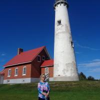 Kristina at Tawas Point Lighthouse