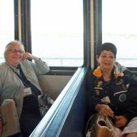 Ann & Mary Lou resting up on the Sapelo Island Ferry after an early morning departure from Savannah.