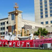 We learned that the Portsmouth Lightship was never stationed in Portsmouth, but took on the city's name and in 1989 was designated a National Historic Landmark.