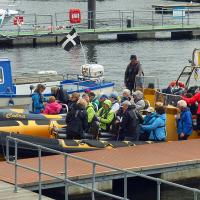 Preparing for our RIB ride to Flatholm Island